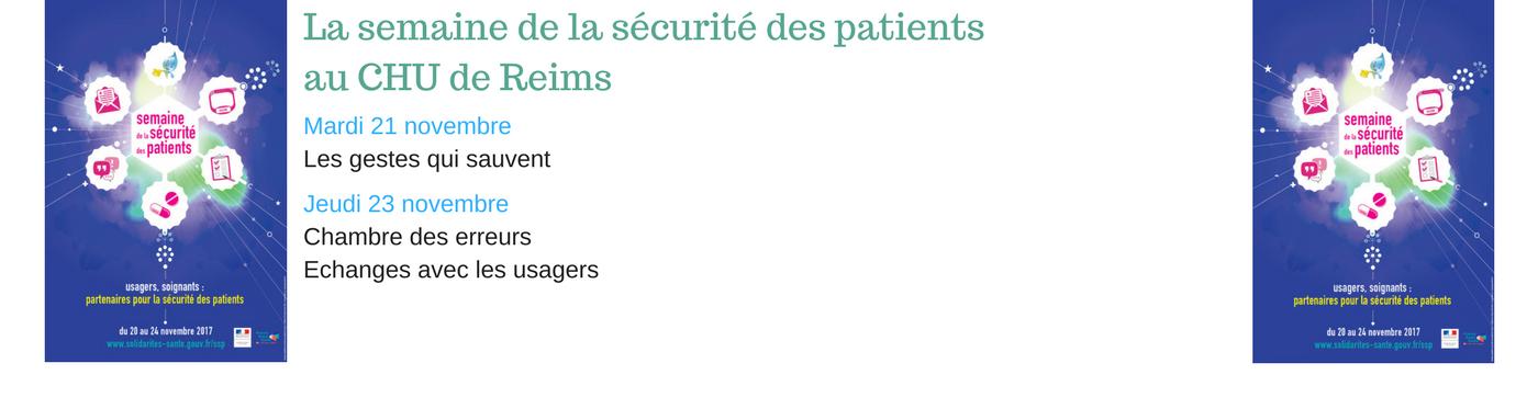 """Semaine de la sécurité des patients """"usagers, soignants : partenaires pour la sécurité patient"""""""