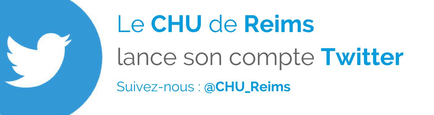 Le CHU de Reims sur Twitter